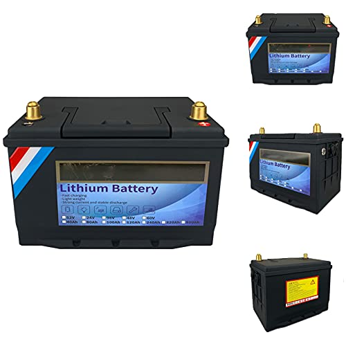 NCBH 12V 40V / 80V / 100V / 120V / 240V / 320Ah LiFePO4 Batería Batería de fosfato de Hierro y Litio de Ciclo Profundo,con BMS Incorporado, RV/Camping, Energía Solar,12v120ah