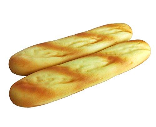 Lorigun 2 UNIDS Pan Falso Artificial Material de PU Baguettes Realista Faux Food, Imitación Pan Francés Comida Falsa para Decoración, Modelo de Pan Decoración de Cocina para Comida Fotografía Prop