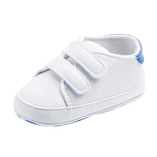Homyl Tênis para bebês meninos e meninas com sola macia antiderrapante sapatos para crianças de 0 a 18 meses