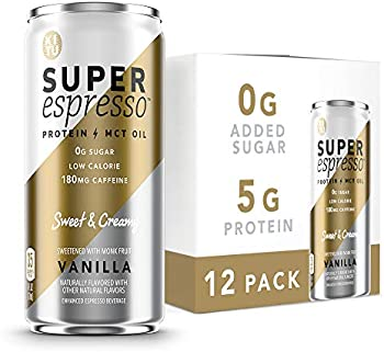 12-Pack Sunniva Super Coffee SugarFree Keto Coffee Cans 6 Fl Oz