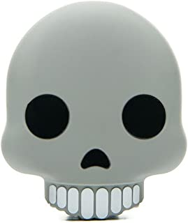 MojiPower External Battery Portable Charger 2600 mAh Power Bank, Includes Micro USB Cable - Skull Emoji