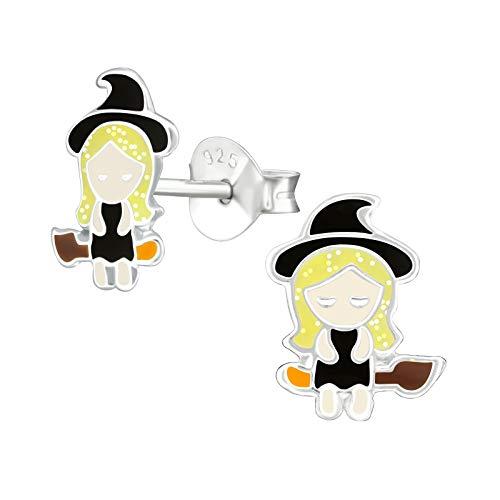 Monkimau Meisjes oorbellen hekse bezem oorstekers van 925 sterling zilver