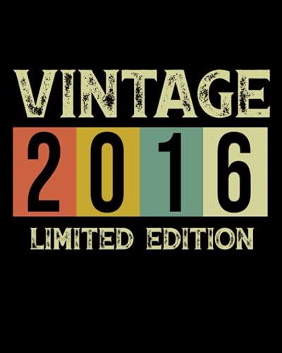 Vintage 2016 Limited Edition: Diario vintage, ottimo regalo per il 5 ° compleanno / Mantieni tutti i momenti migliori in un unico posto / 120 pagine.
