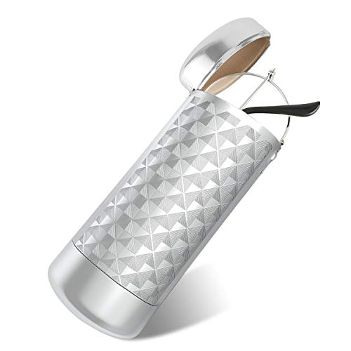 HIFOT Brillenetui hardcase Aluminium, Metall Lesebrillenetui hartschalen für Damen und Herren