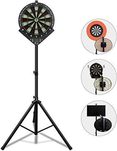 Dartslive-Zero Darts Stand Freestanding Easy Assembly with Dart Holder for Use with Large Stability Adjusters (Feet) to Keep the Interior Atmosphere (2021 Latest Model)