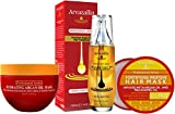 Hydrating Argan Oil Hair Mask , Protein Hair Mask , and Premium Argan Oil Hair Treatment Bundle - The Ultimate Hydration and Hair Repair Products for Damaged Hair or Dry Hair by Arvazallia