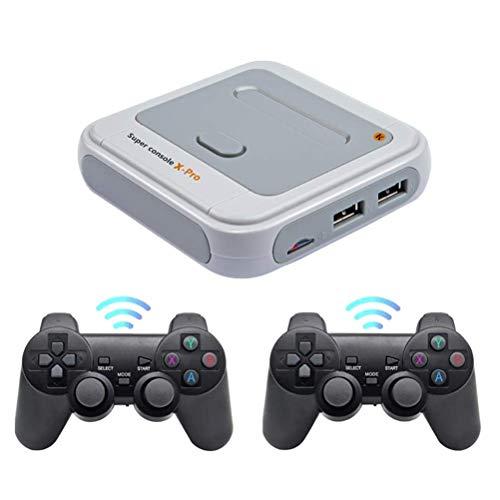 Sklepee Wireless Retro Game Console, erstellt in 30000+ Classic Game, 4k Videospielkonsole mit Dual 2.4g Wireless Controller, AV- und HDMI HD-Ausgang Handheld Spiele Family Party Spiel