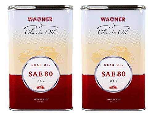 2X Wagner SPEZIALSCHMIERSTOFFE Getriebeöl SAE 80 GL 4 Oldtimer-Getriebeöl 1 L
