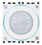 VIMAR 02973.B Termostato Smart a rotella, Bluetooth, alimentazione 100-240V, retroilluminazione LED,...