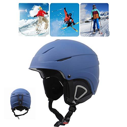 Qinsir Casque De Ski De Course,Casque Snowboard avec Adulte Certifié EN1077 Casque De Ski pour Le Ski Tête Oreille en ABS + EVA pour Kayak Canoë Snowboard Skate Ski Surf,S(56~59CM)