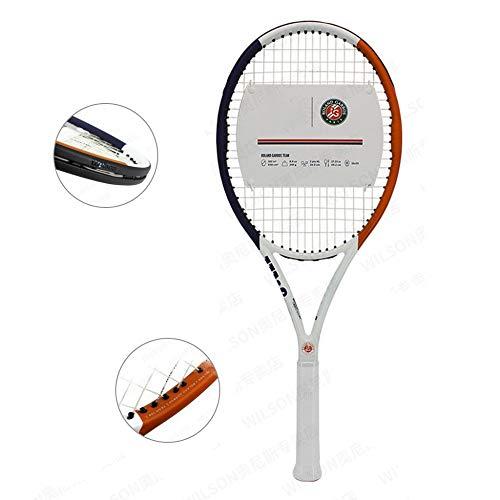 Raqueta De Tenis Profesional De Carbono Raqueta De Tenis Individual para Hombres Y Mujeres Adolescentes Diseño De Absorción De Choque Cuádruple,OneColor-27.25inches
