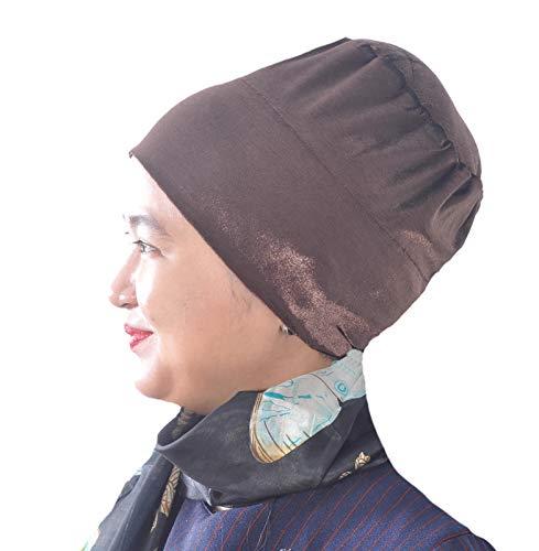 Zijdeverhaal anti-slip fluweel Handgemaakte Bun Hijab Volumizer Cap Turban Onder Sjaal Bonnet Sjaal Chemo Kanker Hoofd Cover Haaruitval