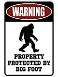 Warning Property Protected by Big Foot – Funny Metal Decor Gift Sign
