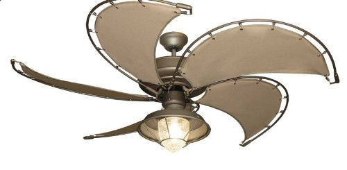 Raindance Nautical Ceiling Fan in Antique Bronze with Khaki...