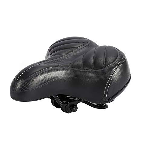 PUSOKEI Seggiolino per Bici Comfort, Cuscino Ultra-Morbido più Spesso per Mountain Bike Sedile Nero Opaco, seggiolino per Bicicletta Imbottito Morbido per Uomo/Donna