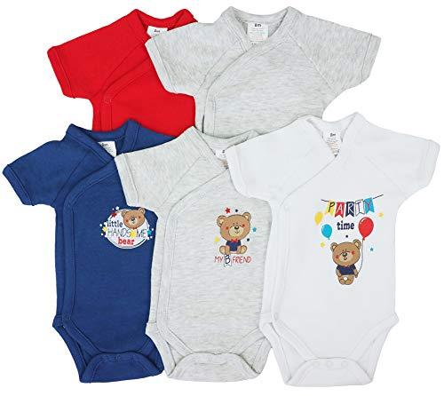 Pack de 5 bodis de manga corta para bebé, de algodón dise�