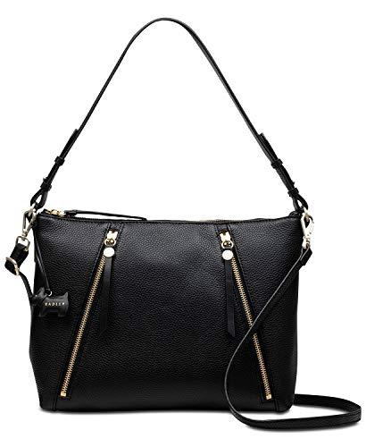 Radley Fountain Road Leather Medium Multiway Shoulder Crossbody Bag in Black