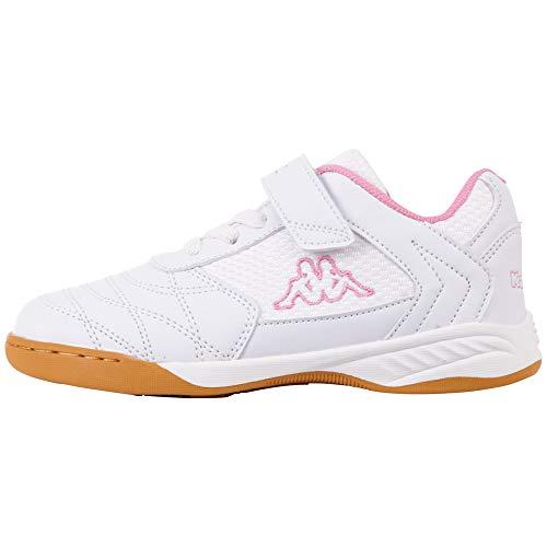 Kappa DAMBA K Unisex Kids, Scarpe per Jogging su Strada, 1021 White rosé, 35 EU