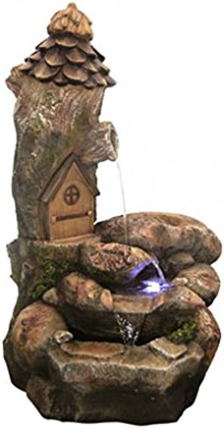 Fairy House Rock Falls Water Feature Aqua Creations
