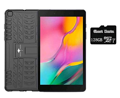 Samsung Galaxy Tab A 8.0' Tablet (Latest Model), 32GB Wi-Fi, Black, Android 9.0 Pie, Bluetooth, Bundled with Ghost Manta 128GB Micro SD Card & Protection Case