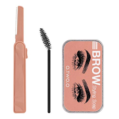 PIXNOR 2 Sets Eyebrow Soap Kit 3D Brows Styling Soap Eyebrow Styling Gel Long Lasting Natural Eyebrow Wax Eyebrow Gel Eyebrow Cream Makeup Tools