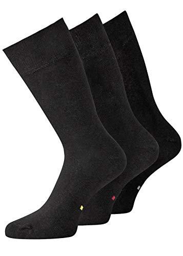 Herrensocken Businesssocken Baumwollsocken leicht sortierbar schwarz 3 Paar 39-42 43-46 47-50 KB Socken (43-46, Markierung gemischt)