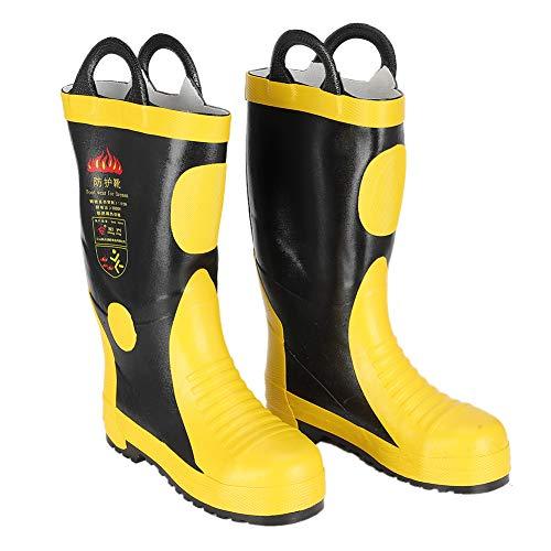Tnfeeon Stivali di Sicurezza antincendio in Gomma, Scarpe Impermeabili Resistenti alle Alte Temperature(42)