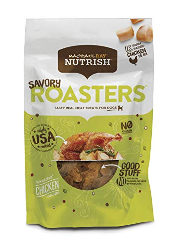 Rachael Ray Nutrish Savory Roasters Real Meat Dog Treats, Roasted Chicken Recipe, 3 Ounces (Pack of 8), Grain Free, 46900320