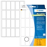 Herma 10609 Vielzweck Etiketten ablösbar ohne Rückstände (19 x 40 mm) weiß, 640 Klebeetiketten, 32 Blatt Papier matt, Handbeschriftung