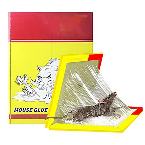 BMDHA Paquete 20 Pcs Pegamento Ratones,Pegamento para Ratones Tipo De SeñUelo De La Familia Pegamento Ratas Salud Y Seguridad Trampas para Ratones Pegamento Alta Viscosidad Trampa Ratas