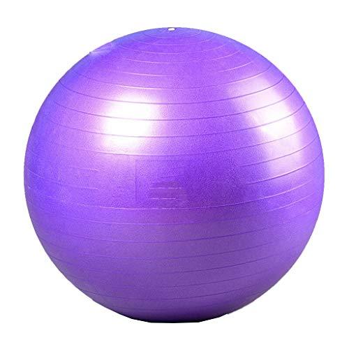 HomeDecTime Bola de Ejercicio de Pelota de Yoga para Pilates, Yoga, Entrenamiento de Entrenamiento de Gimnasio de Estabilidad - Púrpura 65cm
