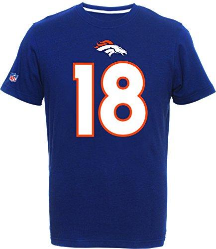 NFL Kinder/Youth Shirt Denver Broncos Peyton Manning #18 Navy Eligible Receiver (13-15)