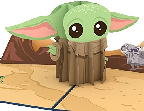 Lovepop Baby Yoda Father's Day Card, 3D Pop-Up Greeting Card, 1 Ct, 5 X 7 Inches, Gifts For Dad