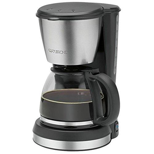 Clatronic KA 3562 Kaffeemaschine, für 12-14 Tassen Kaffee (ca. 1,5 Liter), 900 Watt, hochwertige Edelstahlapplikationen, Nachtropfsicherung