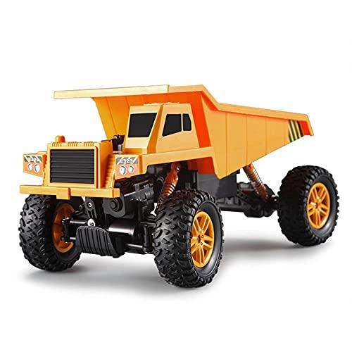 ZDYHBFE RC1: 18 Vehículo todoterreno de escalada con tracción en las cuatro ruedas 2.4G Vehículo de ingeniería Simulación Camión volquete Camión grande Vehículo de transporte Vehículo mecánico 45 grad