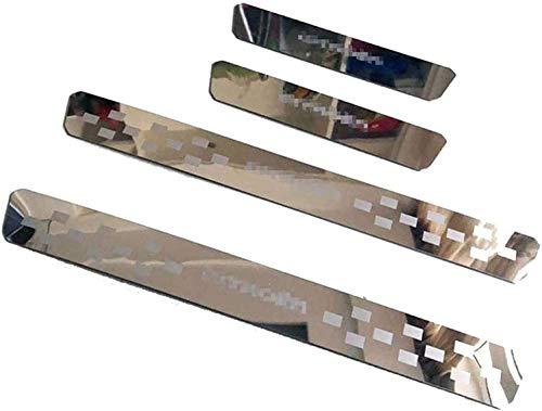 HJKSHS 4 Piezas,Protector de umbral de Puerta de Coche embellecedores de Placas de Apoyo para Citroen C3 C4 C5, Accesorios de Coche,Accesorios de Coche de Pedal de Acero Inoxidable 。