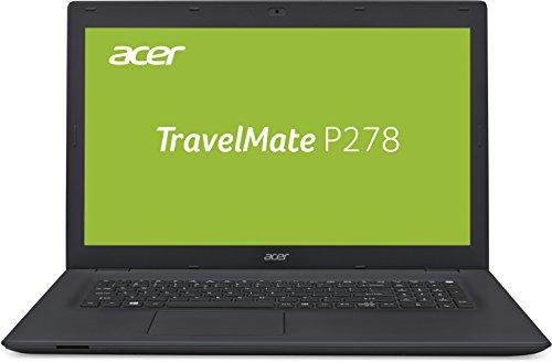 Acer TravelMate P278 (P278-MG-74U9) 43,9 cm (17,3 Zoll Full-HD matt) Office Laptop (Intel Core i7-6500U, 8GB RAM, 256GB SSD + 1.000GB HDD, GeForce 940M, Win 10 Pro) schwarz