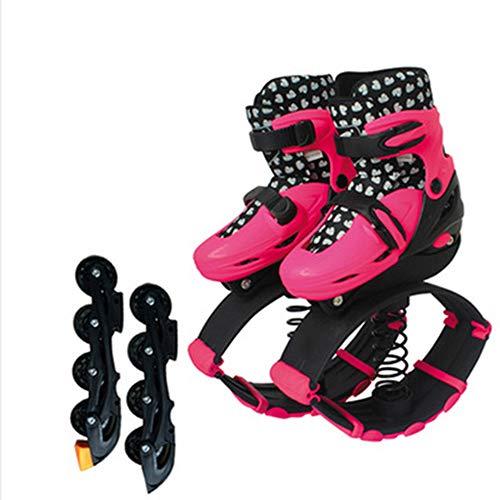 SEGIBUY Unisex Fitness Bounce Schoenen - Jumping Schoenen Sport Kangoeroe Laarzen Fitness Bouncing Schoenen Kinderen Kinderen Oefening Trainning Speelgoed, Roze, S