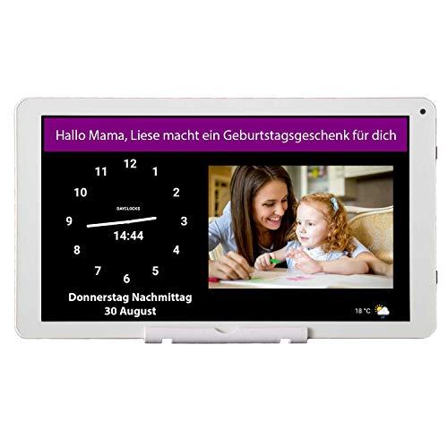 DayClocks Seniorenuhr 10″ inkl. Kalender und (Sprach-) Nachrichten- & Foto-Funktion - Digitale Uhr, Wecker, Kalender & Tablet für Senioren & Demenzkranke (z.B. Alzheimer) mit Erinnerungsfunktion