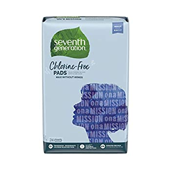 Seventh Generation Maxi Pads Regular Free & Clear Chlorine Free 24 count