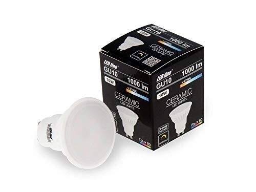 6er Pack LED Leuchtmittel | GU10 SMD | 10W | 120° | Dimmbar | 1000 Lumen | Glühbirne | Glühlampe | Spot | Stromsparend: A+ | warmweiß