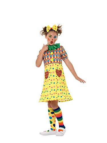 Smiffys SMIFFY 'S 49821M Clown Kostüm, Mädchen, Mehrfarbig, Medium, UK 7–9