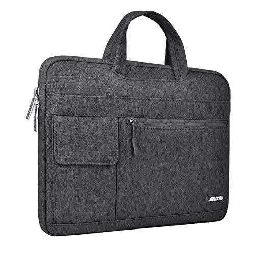 MOSISO Laptop Schultertasche Kompatibel mit 13-13,3 Zoll MacBook Pro, MacBook Air, Notebook Computer, Polyester Flapover Messenger Aktentasche Handtasche, Space Grau - 6