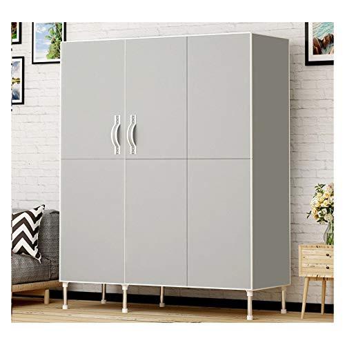SCYMYBH Cloth Wardrobe Portable Closet Organizer Double Door Type Folding Single Storage Multifunctional Assembled Wardrobe (Color : C, Size : 125×45×170cm)
