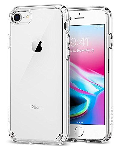 Spigen® [Ultra Hybrid 2 Kompatibel mit iPhone 8/7 Hülle, Einteilige Transparent Schutzhülle für iPhone 7 iPhone 8 Case Crystal Clear (042CS20927)