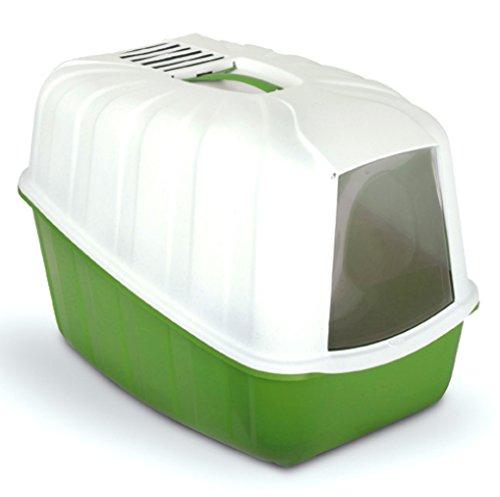 MPS Katzentoilette mit Haube und Aktivkohlefilter 54x39x40cm, (Grün)