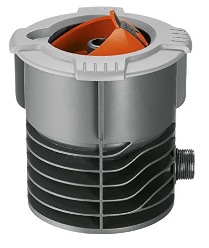Gardena Sprinklersystem Anschlussdose: Systemanfang von Pipeline und Sprinklersystem, mit 3/4 Zoll-Außengewinde Anschluss, versenkbarer Kugeldeckel, inkl. Profi-System Hahnstück (2722-20)