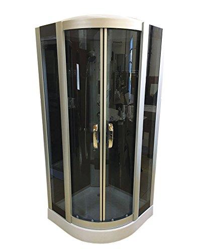 DUCHA CABINA DE HIDROMASAJE 90 x 90 cm SPA RADIO CROMOTERAPIA Modelo New York Nueva
