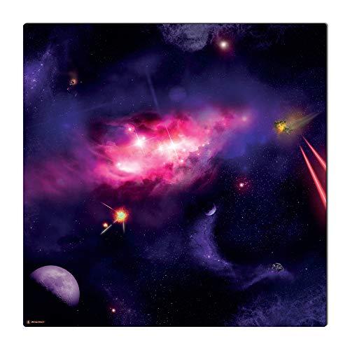 WOGAMAT Tapis de jeu Galaxie 92 x 92 cm Compatible X Wing figurines Néoprène et polyester