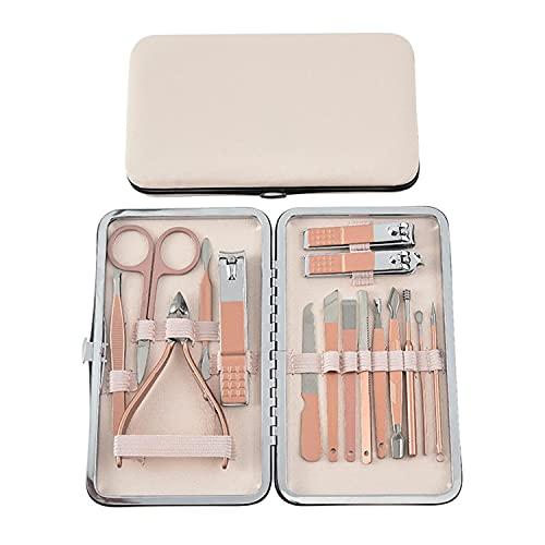 Profesional Cortaúñas Acero Inoxidable Grooming Kit Manicura y Pedicura Limpiador Cutícula Tijeras de uñas, Profesionales...